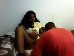 Desi girl lets her Acquaintance eat her pussy
