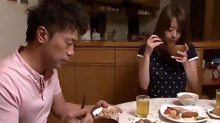 Akari Minamino in Older Brothers Wife Fucked in Both Fuckholes part 2