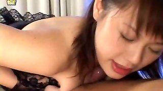 Huge-titted Japanese Girlfriend Receives A Facial