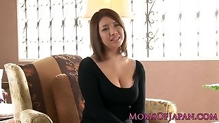 Mature japanese mommy played and throatfucked