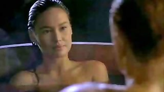 Asian Tia Carrere goes for Dolph Lundgrens Big Blond Pink Cigar