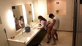 Greatest Japanese chicks Sho Nishino, Yumi Kazama in Outstanding JAV censored Fingering, Big Tits vignette