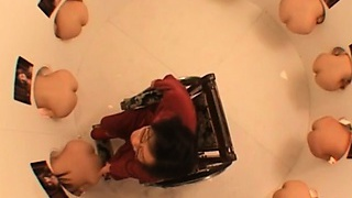 Killer japanese dolls attending a funny sex challenge