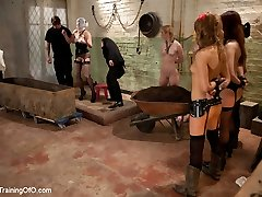 Our own Domme, Sophie Monroe is brought down from The Upper Floor to experience the training...
