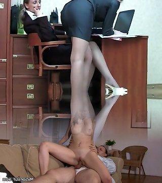 Fabulous Lezzy Secretarys And Super Fucking Hot Lesbian