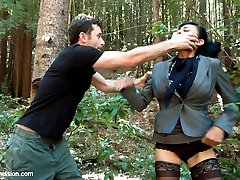 This is a feature Presentation starring Beretta James, Chanel Preston and James Deen!  A land owner refuses to sell his property to a huge corporation.  Two beautiful and persuasive women are sent out to make him a very generous offer, but when he turns it down, they resort to blackmail.  Watch what happens when they get stranded in the backwoods and revenge is taken on them.  Filmed in a beautiful outdoor location, this movie features intense BDSM sex and realistic fantasy role play!