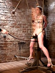 AnnaBelle gets the opportunity to ride the wooden pony. Its a cruel mistress and even padded,...
