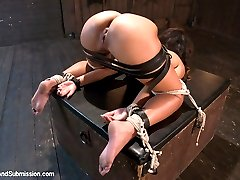 Teanna Trump gets put through her paces by Mr. Pete in this sexually charged bondage and rough sex update.