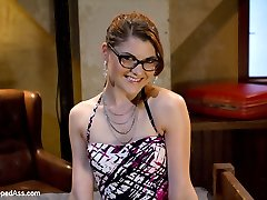 Sinn Sage seduces wealthy dame Lux Leota at the bar and tempts her back to a motel apartment in San Francisco. Lux can't resist her sexiness but once they get to the motel Lux detects she's been tricked and Sinn and her girlfriend Aiden Starr are going to use her as their girl-on-girl BDSM have fun thing. Lux is female handled, ripped out of her clothes and has her white pearly culo spanked in a warm OTK smacking. She's fisted and clothes pinned, hogtied and made to lick ass and fuck pussy with a fuck stick gag. All three girls really get into the lesbian hook-up in the last episode. Lux is thrown around like a rag nymph, rope-on penetrated into strong sweaty ejaculation after climax until all their limbs are intertwined and it's one giant plenty of of sweat and hair.