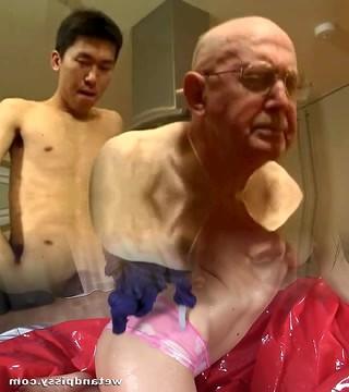 Granddad and young man