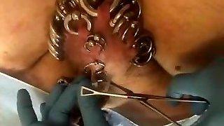 Pierced slavedick getting Five piercings