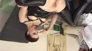 Doctor opens up her tight Ass -ElectroSex and Pierced Cooch