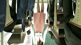 Remote magic wand under teacher skirt