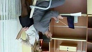 Sex in the office with Russian gal