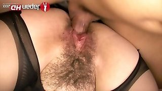 Asian chick in ripped stocking Kazumi Nanase swallows dick and fucks in different positions