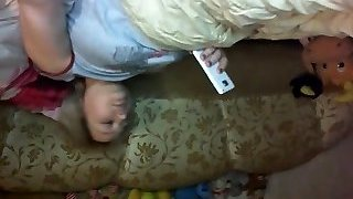 Home made European plays that are platinum-blonde together with her cell