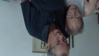 Asian old men comparing cocks