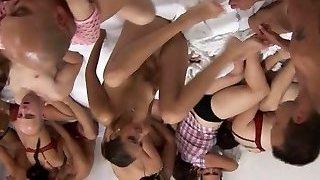 Fat orgy at mega sex party