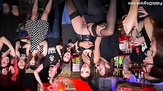 Underground Goth Club Turns Into A Crazy Bang Party - PublicDisgrace