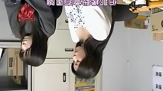 Aki drilled rock hard by the japanese director in hidden cam movie