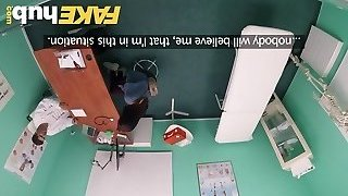Fake Hospital Swallowing doctors super-steamy cum helps honeys throat