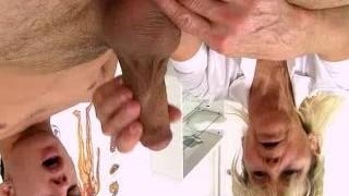 Cfnm hj at sperm clinic with hot legs grandma Hana