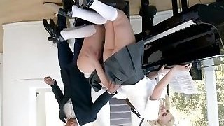 Piano Lesson For Two Teens Turns Into Threesome - Brazzers