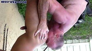 Mature Mickey Collins butt licking Rikk Yorks butt