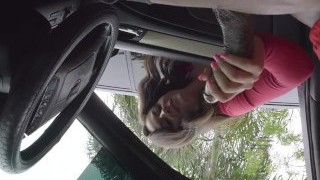 Dick Flash! Teen Gives Me Mitt Job in Public Lot after She Witnesses My BBC