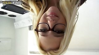Excellent Blonde Teen with Glasses