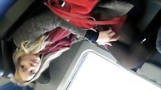 Voyeur stags a lovable girl on the train