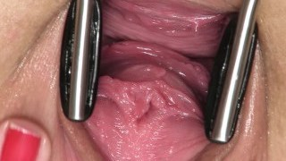 Open sweetie  gaping, gyno, real climax, toys, masturbation