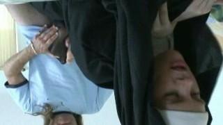 Nun giving a Nylon Foot Wank