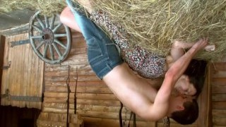 Barn Sex With Natural Cutie
