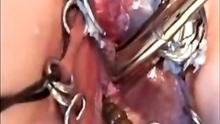 My Sexy Piercings Marionette with pierced pussy penetrating machine