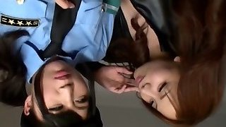 Japanese Girl-girl Seduced Officer