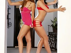 Ava Rose and Mia Rose are real life sistes blessed with incredibly hot pair of legs