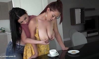 Free big tits lesbian movies