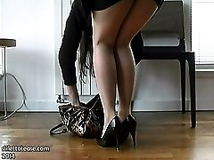 Sexy office lady Jackie wears high heel shoes every day because she is a very sensual lady who...