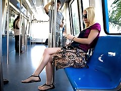 Hey whats up? So this week we found a young sexy little thing on the metro train. Her name is Brooke Lynn, and she has the cutest little feet I have seen in a while.