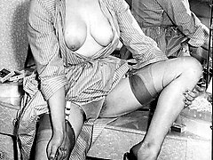 Brits as sexy as ever with 1950s hairy pussy and cheeky charms!