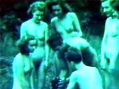 Erotic twenties nudist game