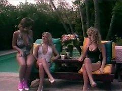 Hot retro lesbians fondling