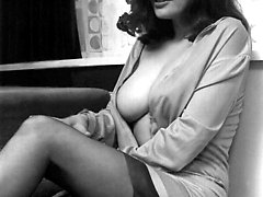 Neat and very sexy gals do their best to drive you mad while posing in vintage lingerie