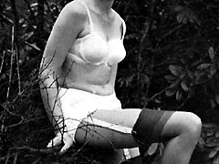 Neat gals cant stop posing in their vintage lingerie and showing their bodies beauty and sex...