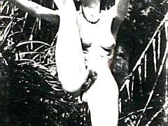 Outdoor vintage ladies nude