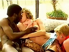 Retro interracial threesome