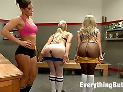 Ariel X coaches these hot sluts into stretching out their assholes properly so she can stuff...