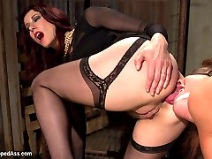 Extreme squirting and hardcore lesbian anal strap-on sex are explosive in this sexy film noir...