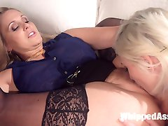 Young and cute entrepreneur Eliza Jane meets with hot angel investor Julia Ann and finds more...